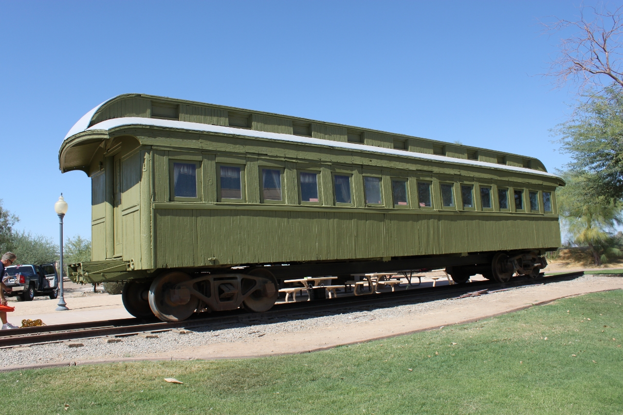 Wooden Rail Cars ~ Yuma model railroaders southern pacific passenger car