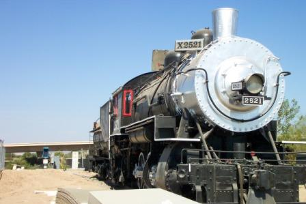 SP 2521 Steam  loco 2-8-0 Yuma, AZ in its new home 'back' on Madison Ave alignm