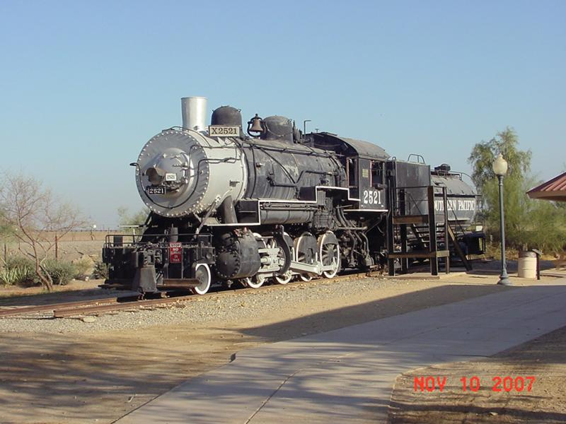 Southern Pacific RR Steam Engine #2521 in Yuma