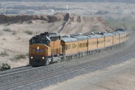 UP 6936 DDA40X pulling business train Yuma Apr2008