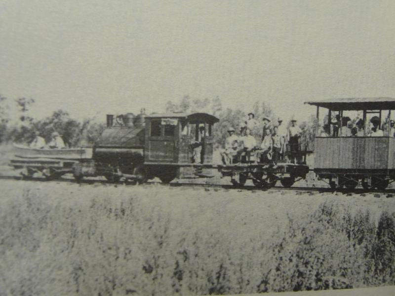 USBR picnic train along the Yuma Valley railroad Somerton AZ area 1906