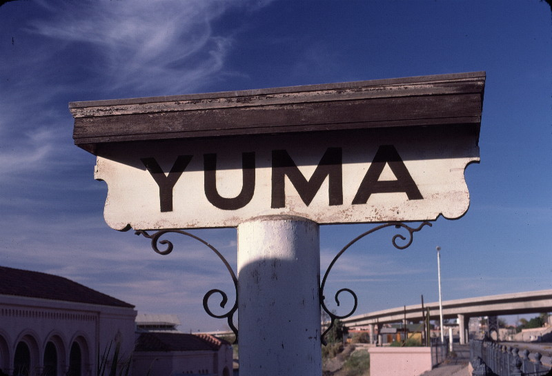 SP Yuma Station sign